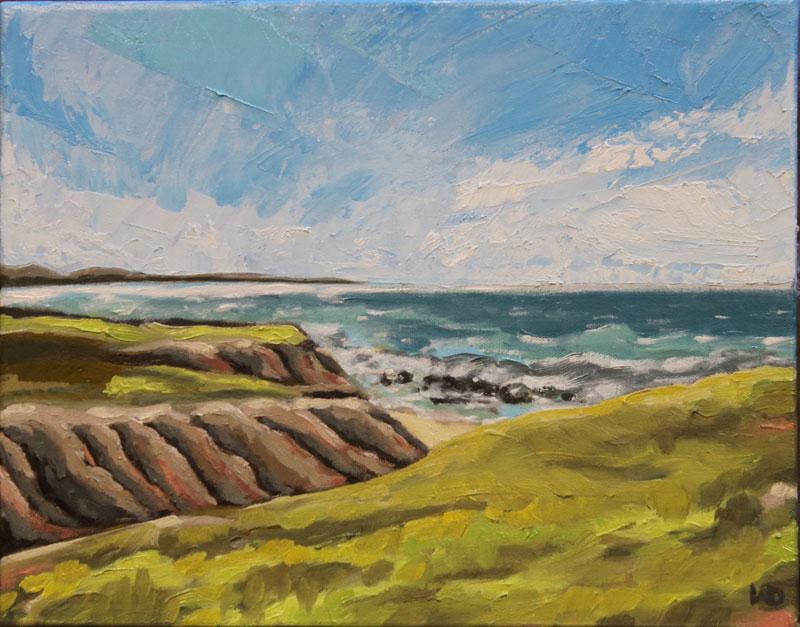 Davenport CA ocean painting, oil painting, art for sale, paintings for sale, wendydavispaintings.com, Wendy Davis Artist
