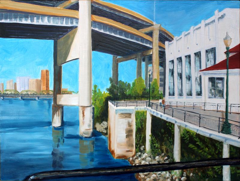 OMSI Stroll  Portland, OR, oil painting, art for sale, paintings for sale, wendydavispaintings.com, Wendy Davis Artist