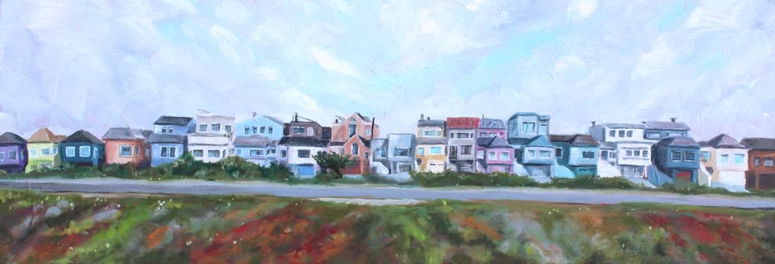 Ocean Beach Highway San Francisco, CA painting, beach living,  oil painting, art for sale, paintings for sale, wendydavispaintings.com, Wendy Davis Paintings