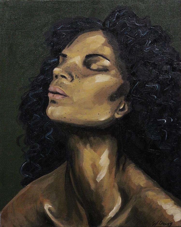 Madonna painting, black woman portrait, oil painting, art for sale, paintings for sale, wendydavispaintings.com, Wendy Davis Artist