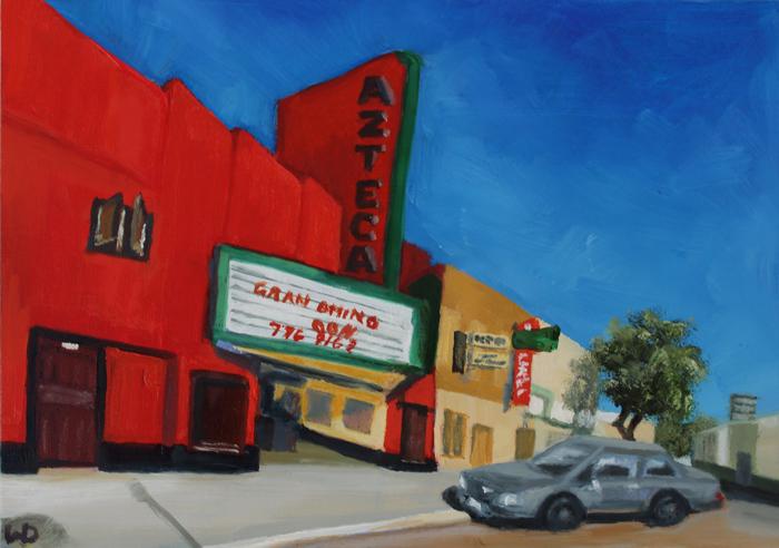 Azteca Theater painting, oil painting, art for sale, paintings for sale, wendydavispaintings.com, Wendy Davis Artist
