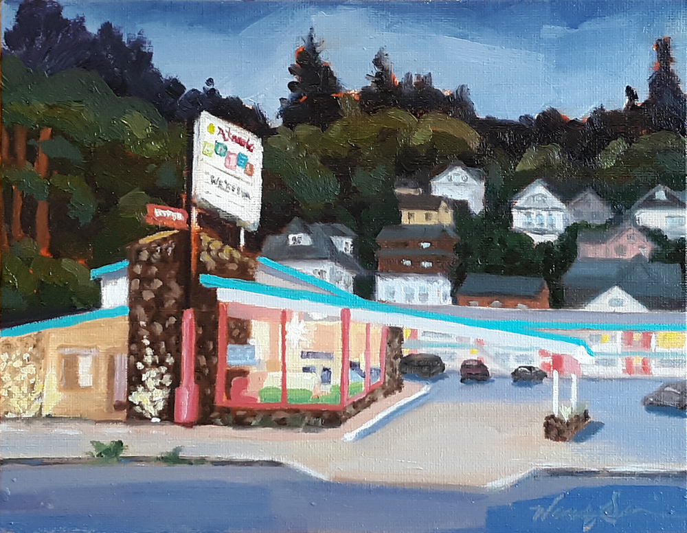 Atomic Motel Painting, oil painting, art for sale, paintings for sale, wendydavispaintings.com