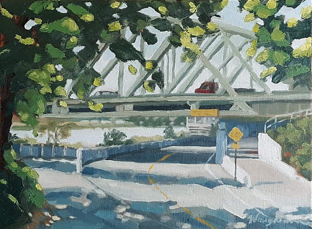 I-5 Bridge oil painting, expressionist painting, art for sale, paintings for sale, wendydavispaintings.com
